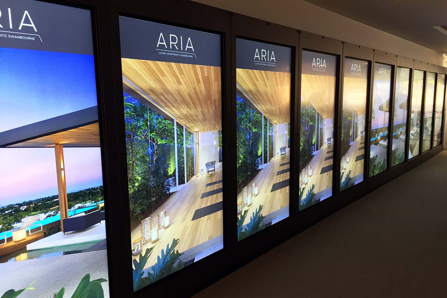 Blackburne Property Group's digital display suite in their CBD Sales Office